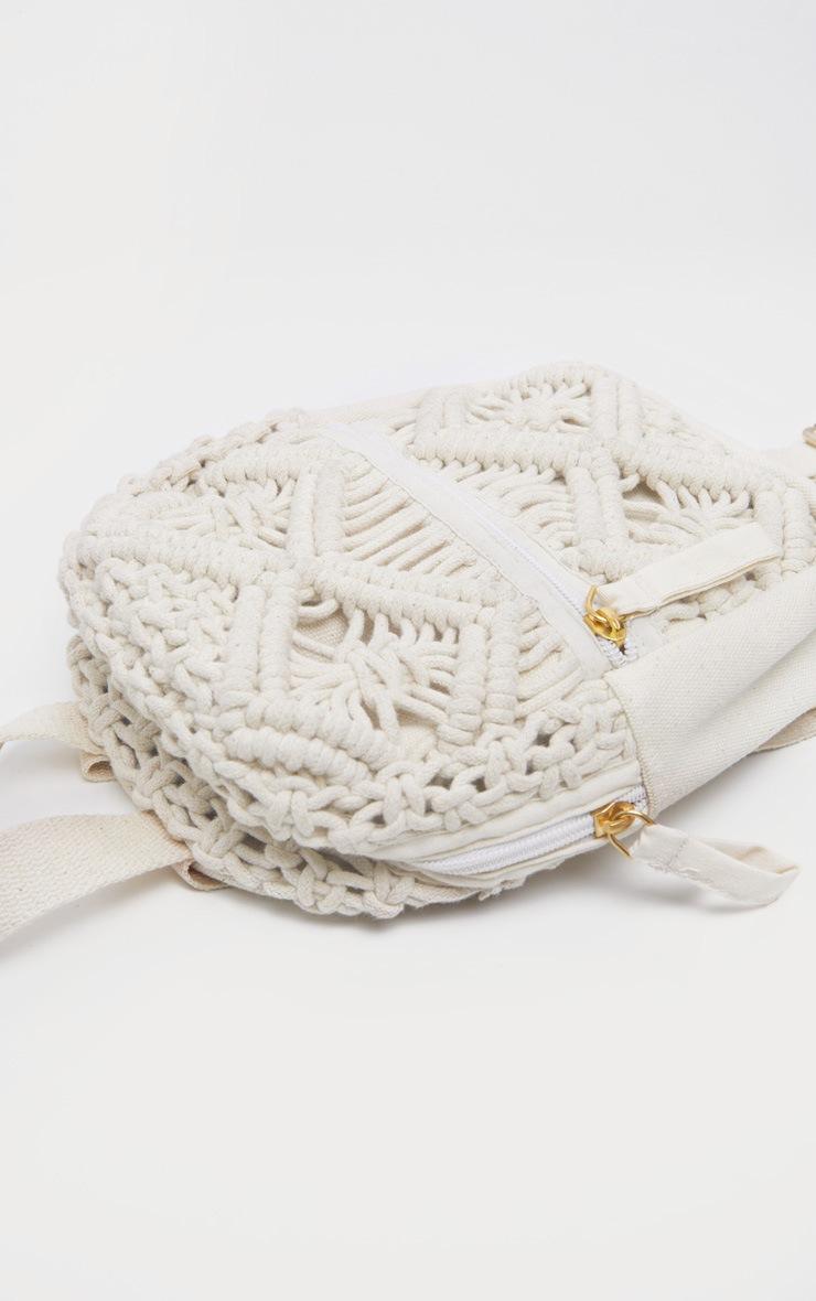 Natural Macron Cotton Mini Backpack 4