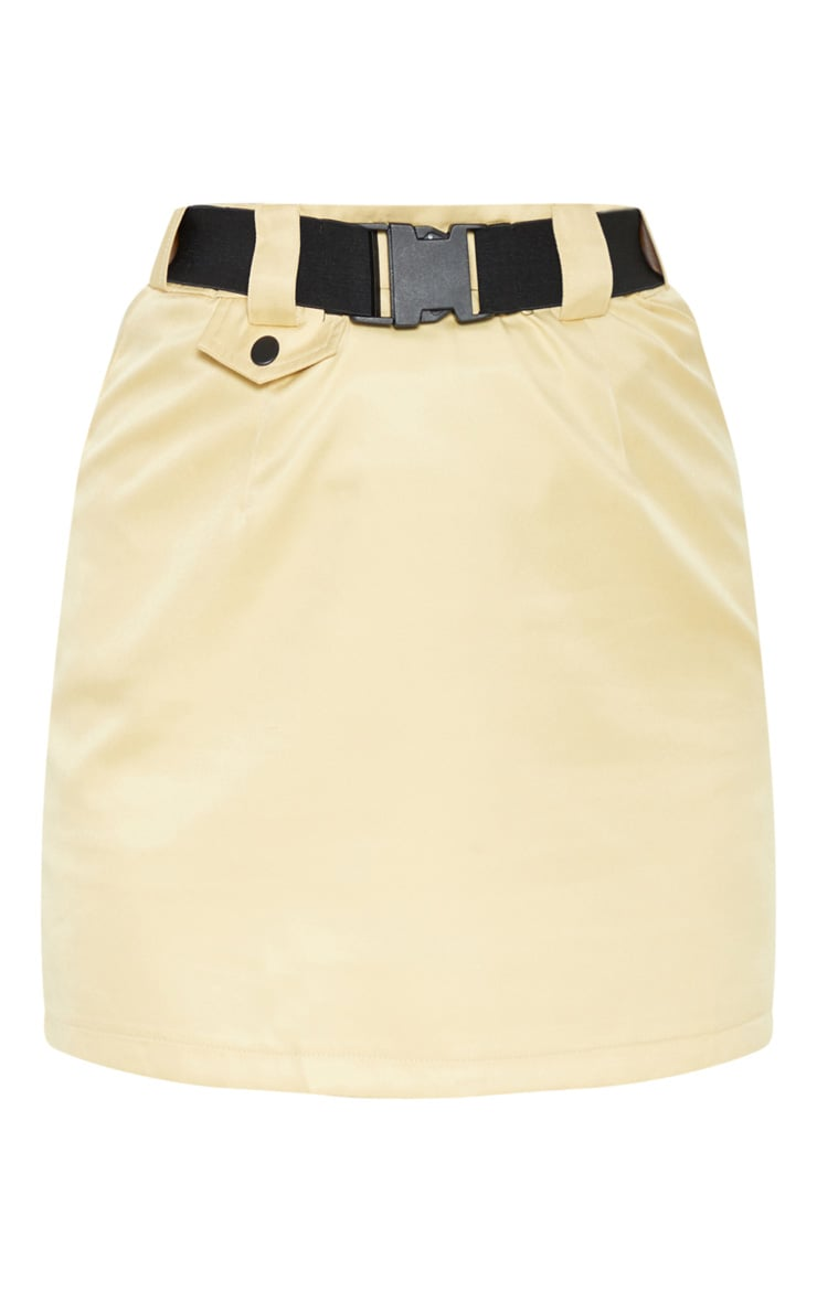 Camel Woven Belt Pocket Detail Mini Skirt  3