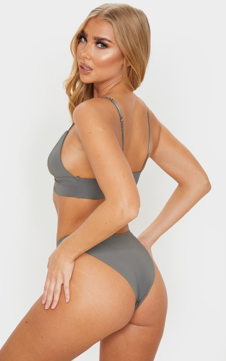 Grey Microfibre Bralet And Knicker Set 2