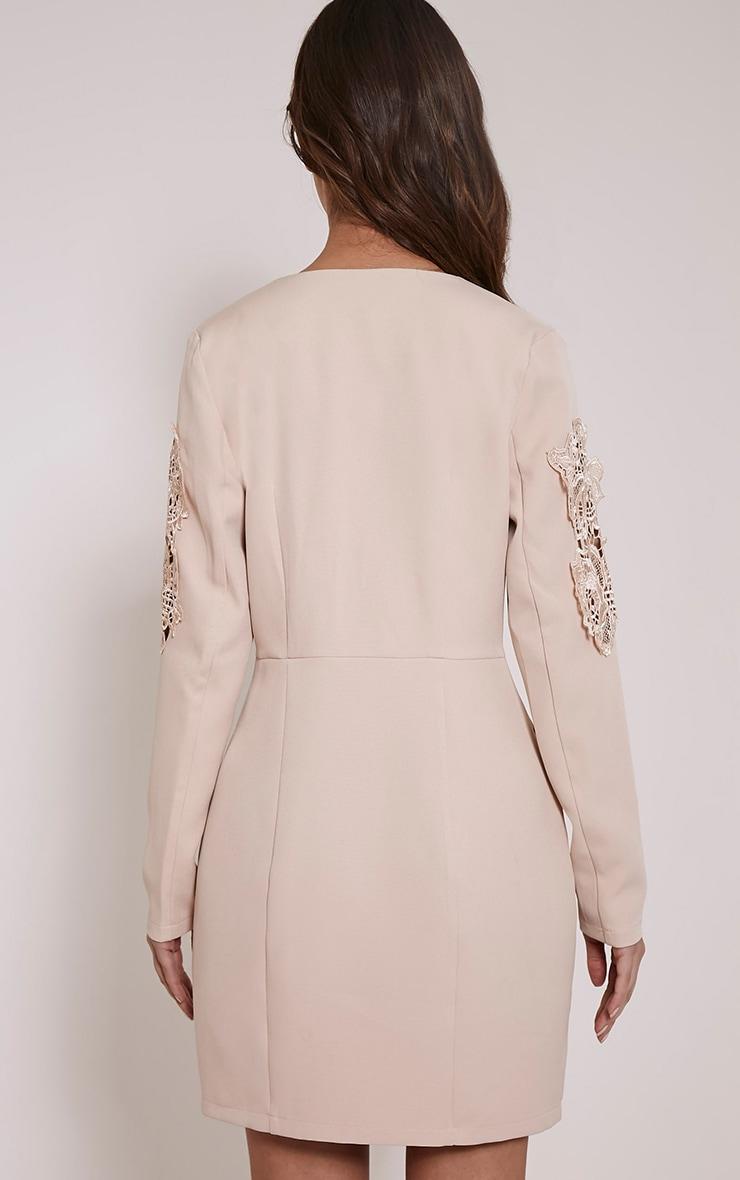 Sabella Nude Applique Detail Blazer Dress 2