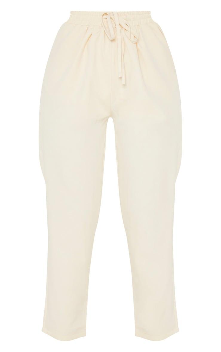 Pantalon cigarette crème 5