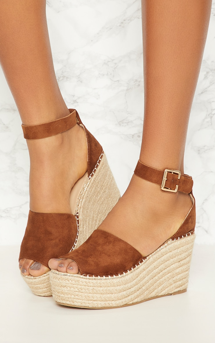 Tan Espadrille Wedge 2