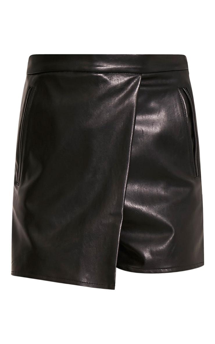 Chlo Black Faux Leather Skort 3