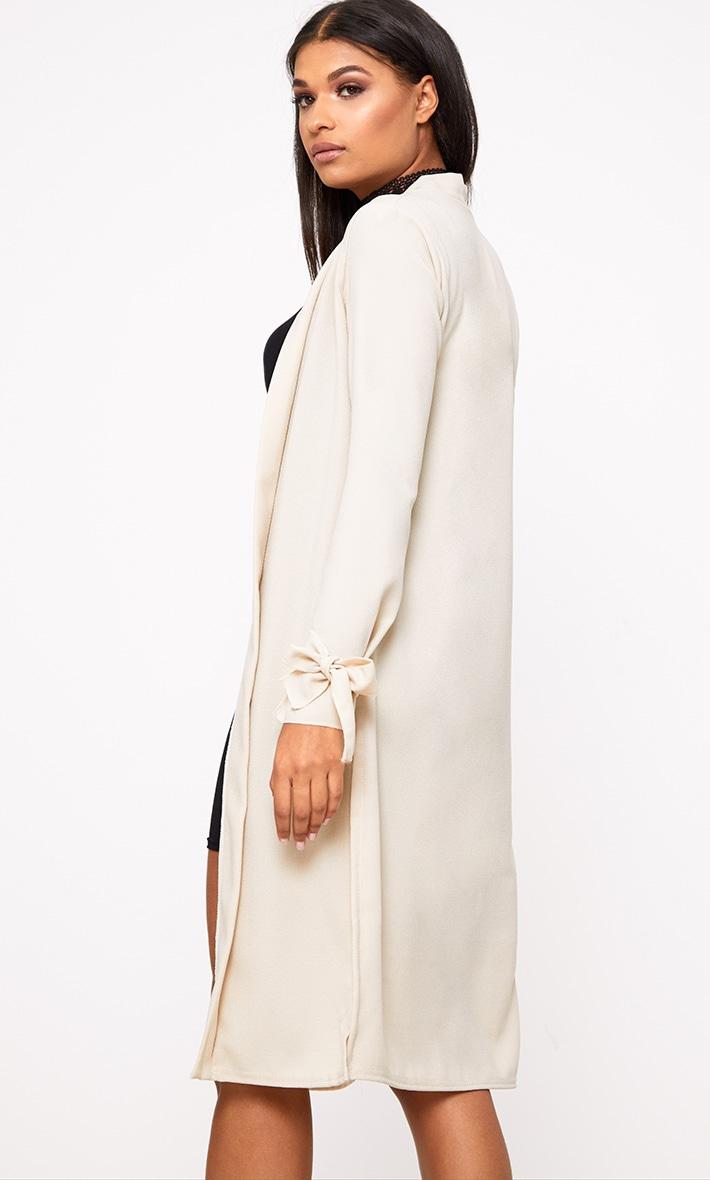 Stone Tie Sleeve Duster Coat 2