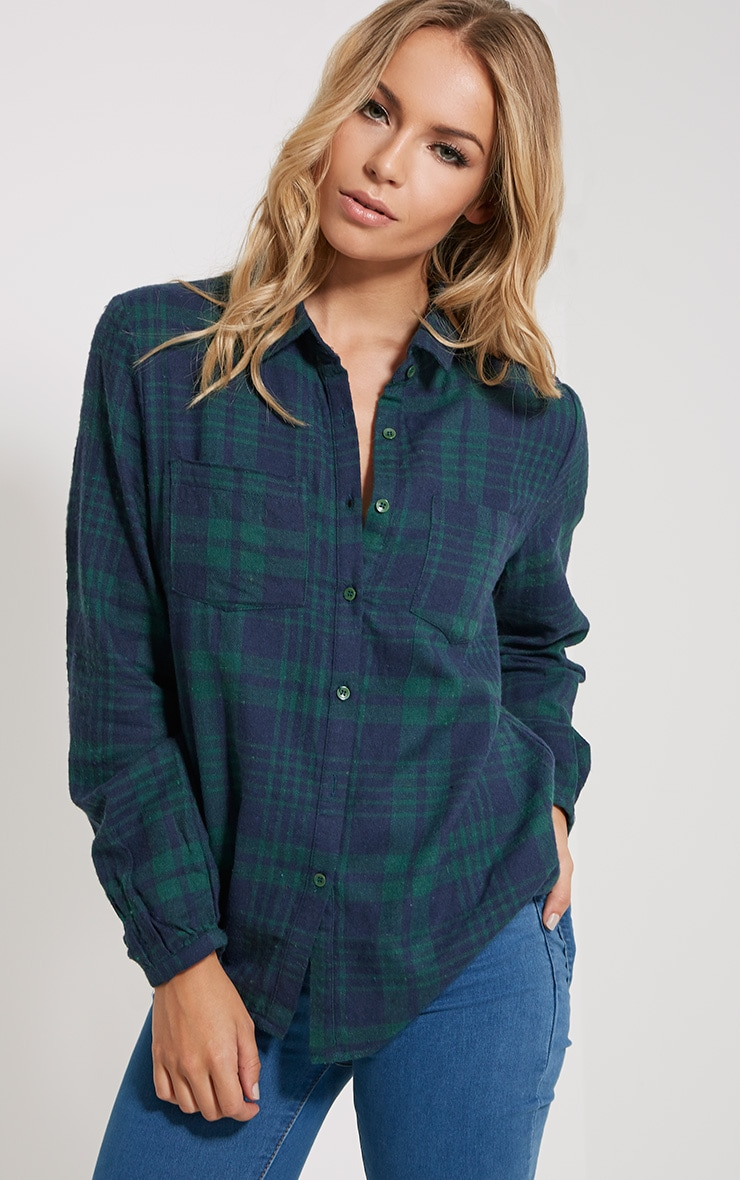 Mariel Green Checked Shirt 4