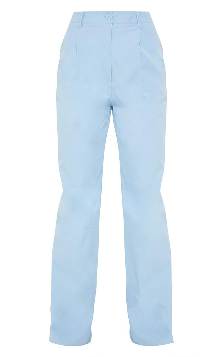 Baby Blue Peach Skin Straight Leg Trousers 5