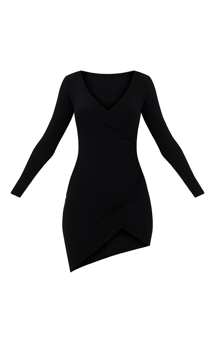 Kendi robe mini cache-cœur noire 3