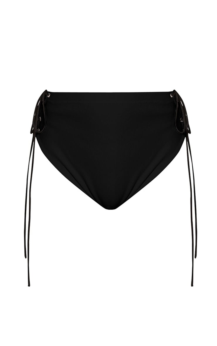 Lucha Black Ribbed Jersey Co-Ord Bottoms 3