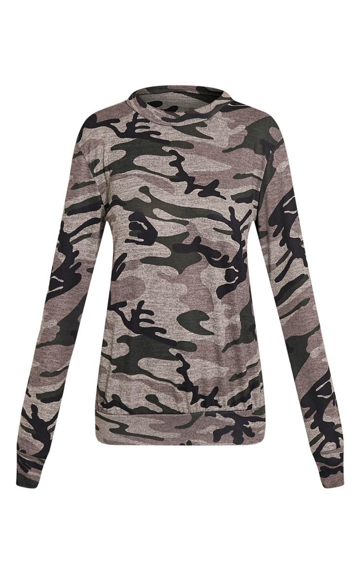 Grechin Green Camouflage Tracksuit Sweatshirt 3