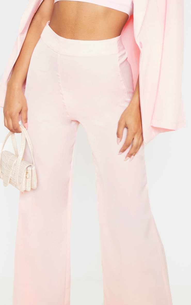 Elnie Baby Pink Wide Leg Suit Trousers 5