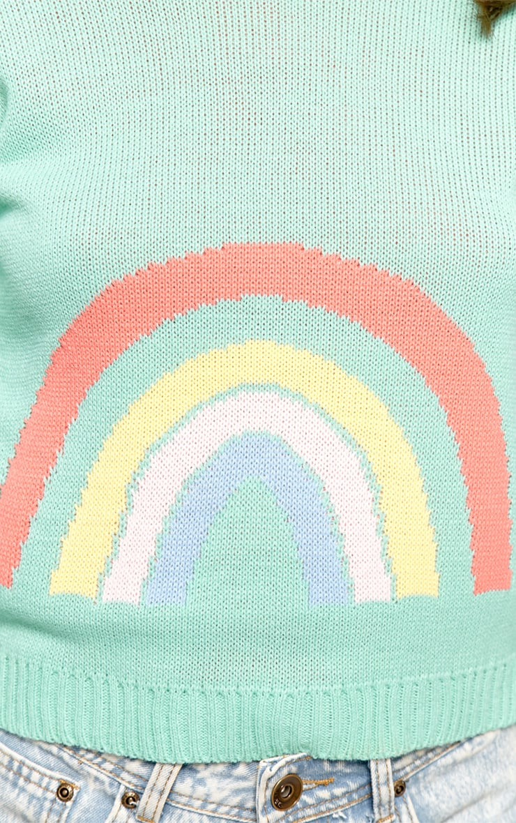 Melanie Mint Rainbow Jumper 4