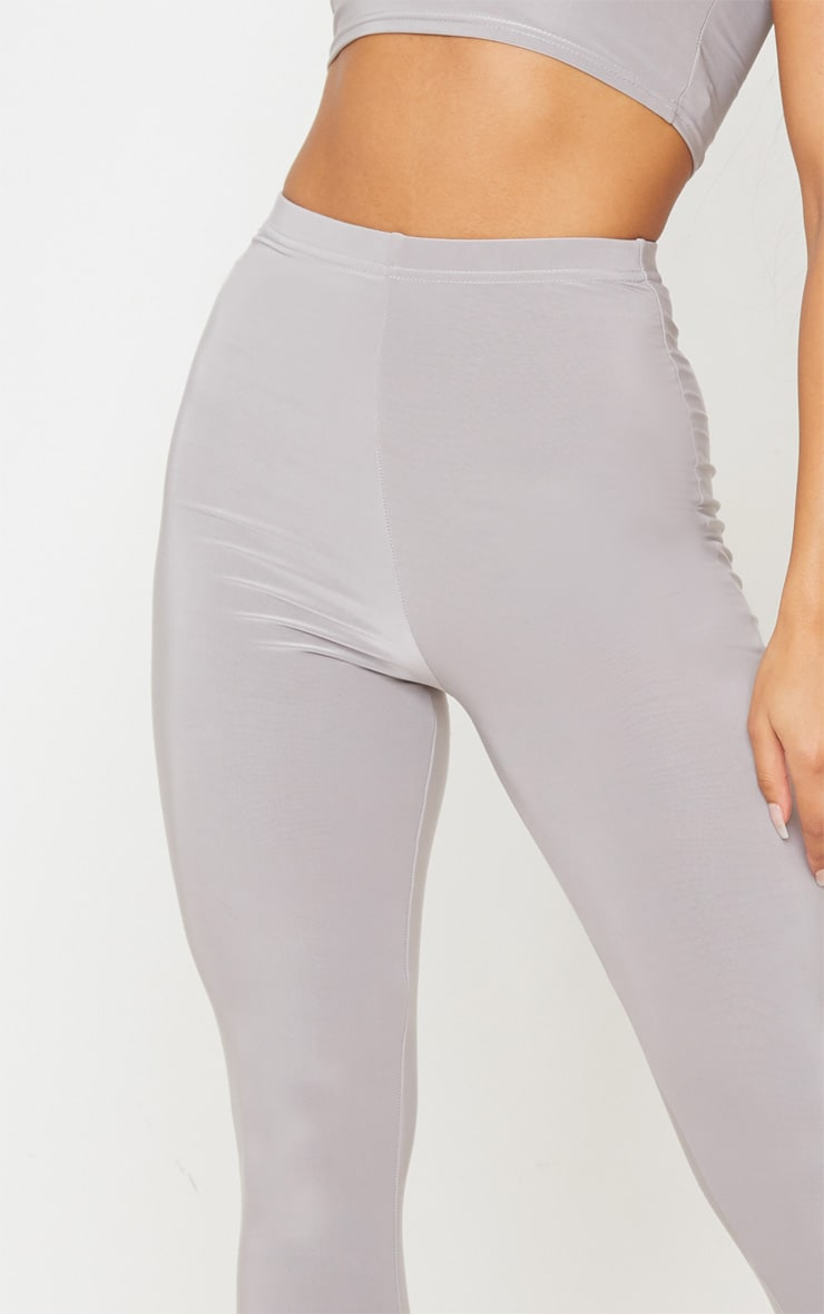 Grey Slinky High Waisted Legging 5