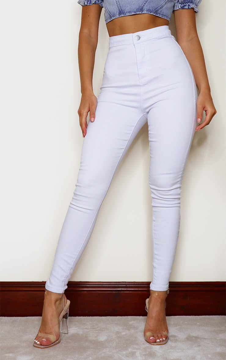 PRETTYLITTLETHING White Disco Skinny Jeans 2
