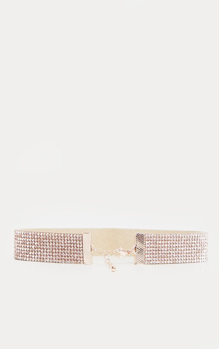 Gold Diamante Choker 5