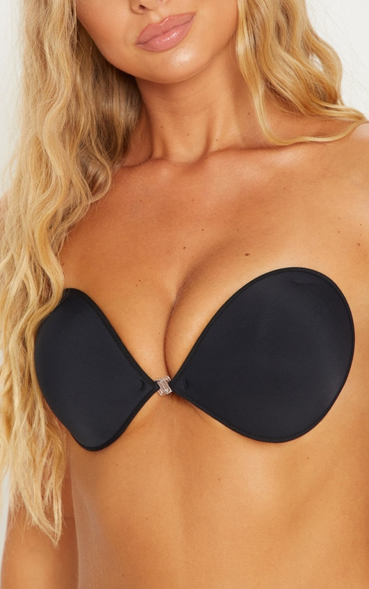 Stick On Black Bra 1