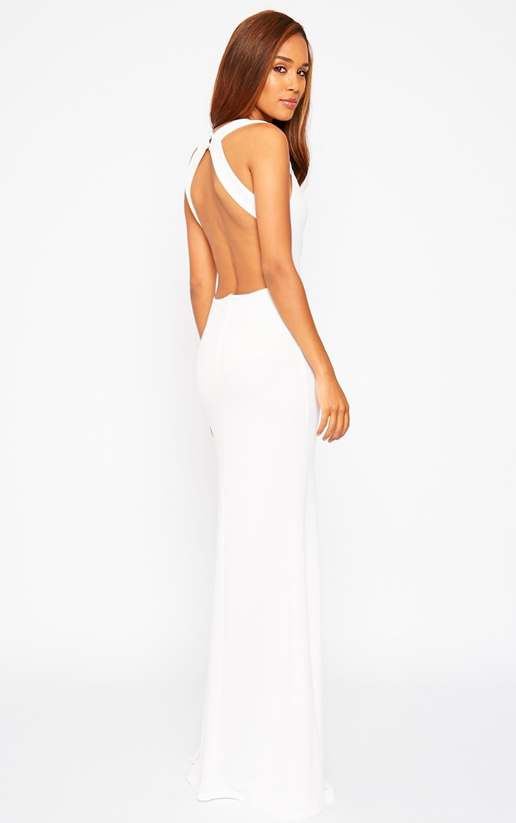 Brandy Cream Plunge Maxi Dress 1
