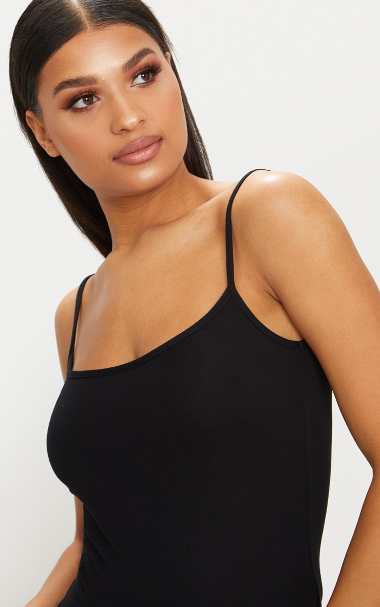 Basic Black Jersey Cami Vest  5