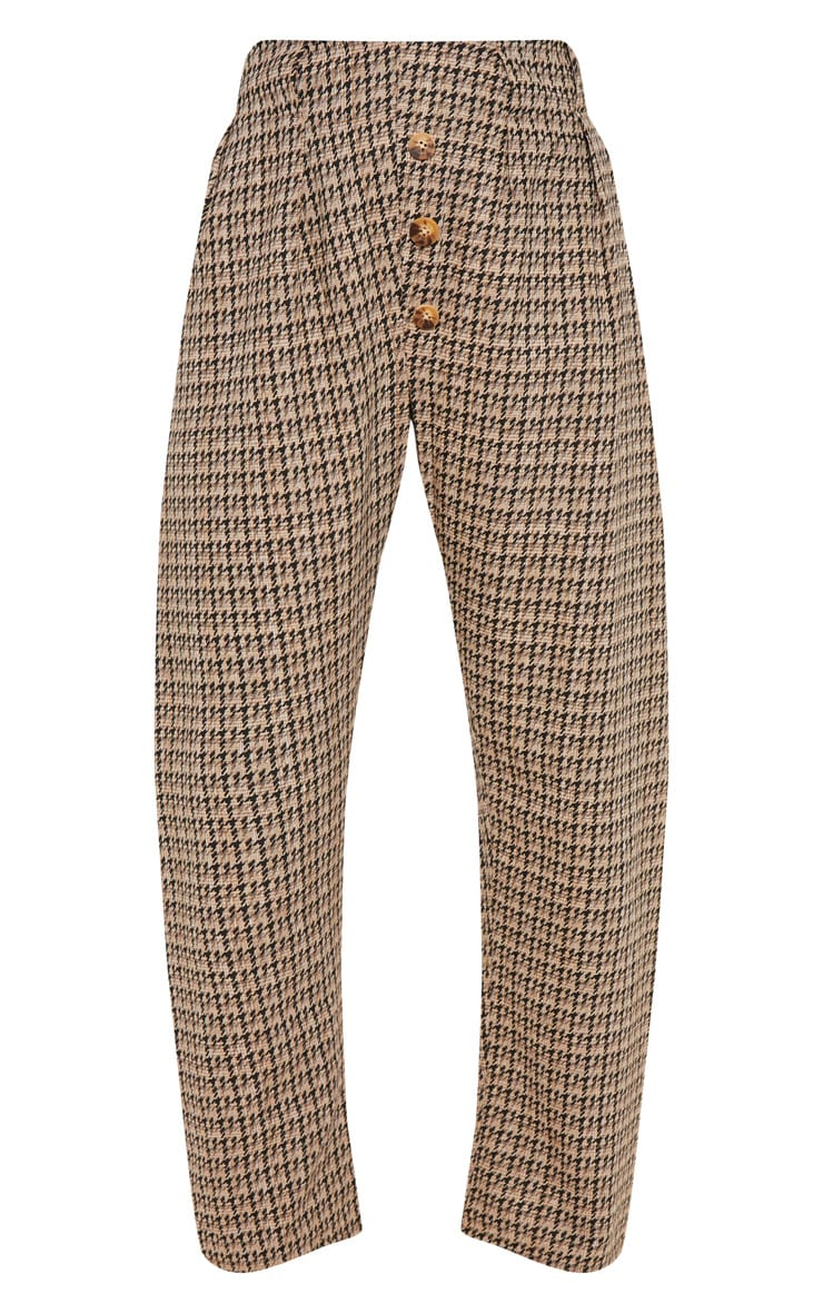 Stone Tweed Button Front Cigarette Pants 3