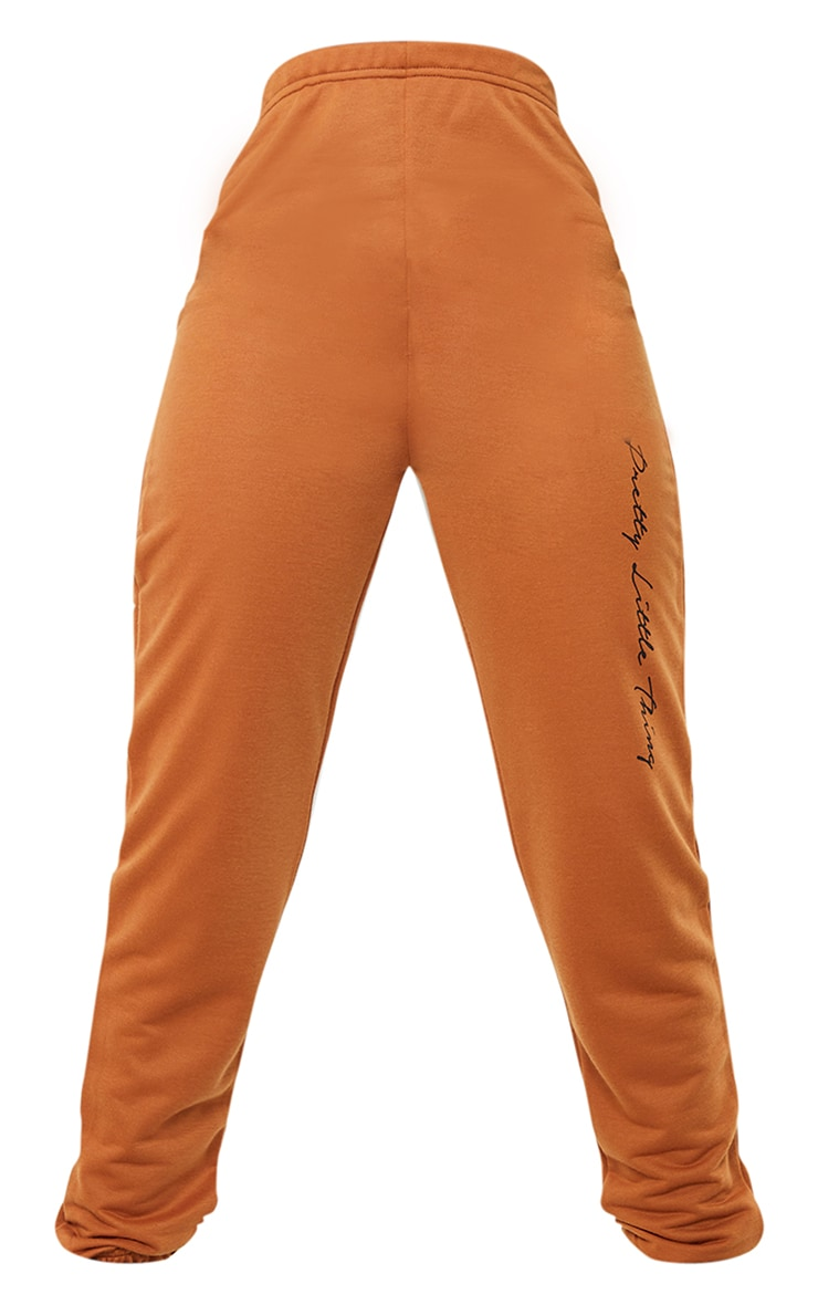 PRETTYLITTLETHING Tall Rust Basic Joggers 5