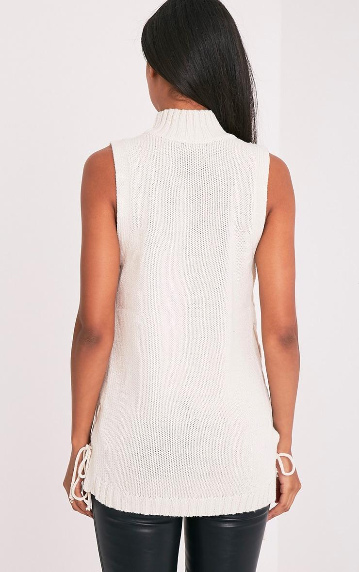 Jennalyn Cream Side Tie Vest 2