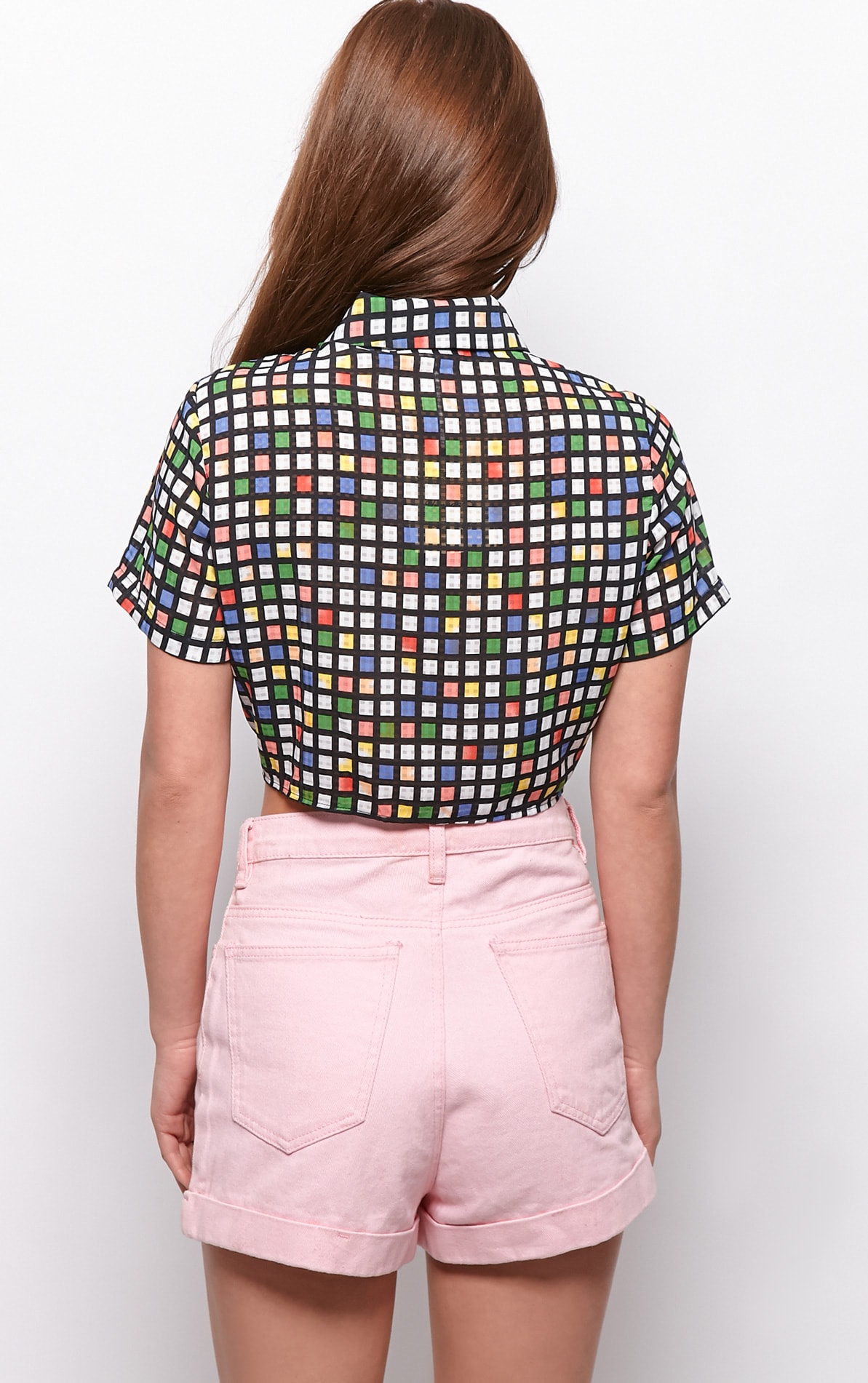 Kimberly Multi Check Crop Shirt 2