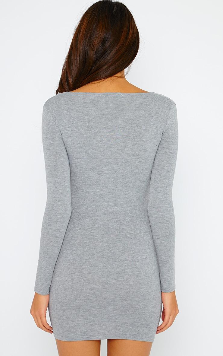 Basic Grey Wrap Dress 2