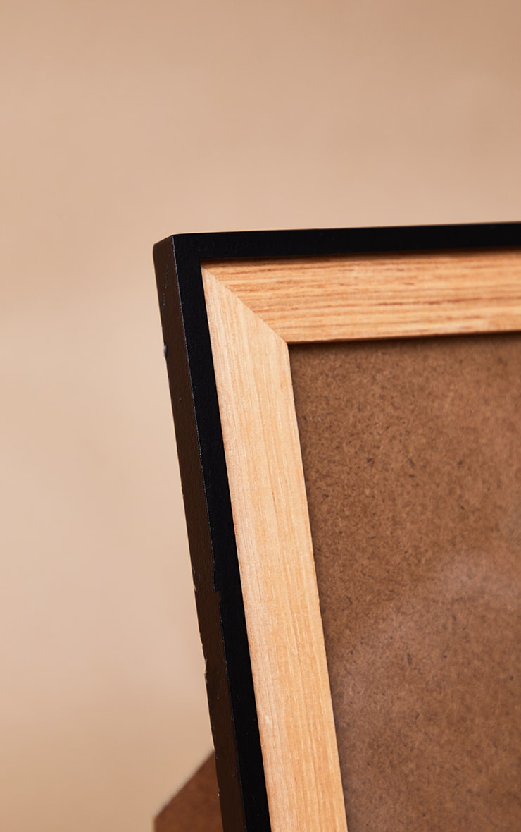 Black & Natural Wood Frame 4