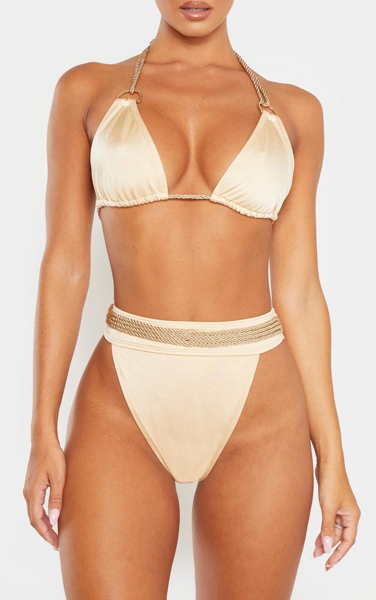 Nude Strappy Rope Bikini Bottom 1