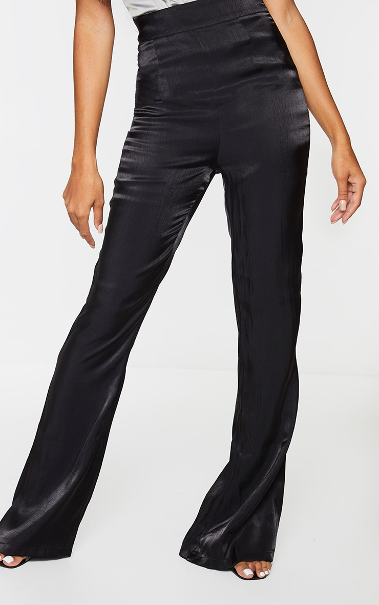 Black Iridescent Flared Pants 2