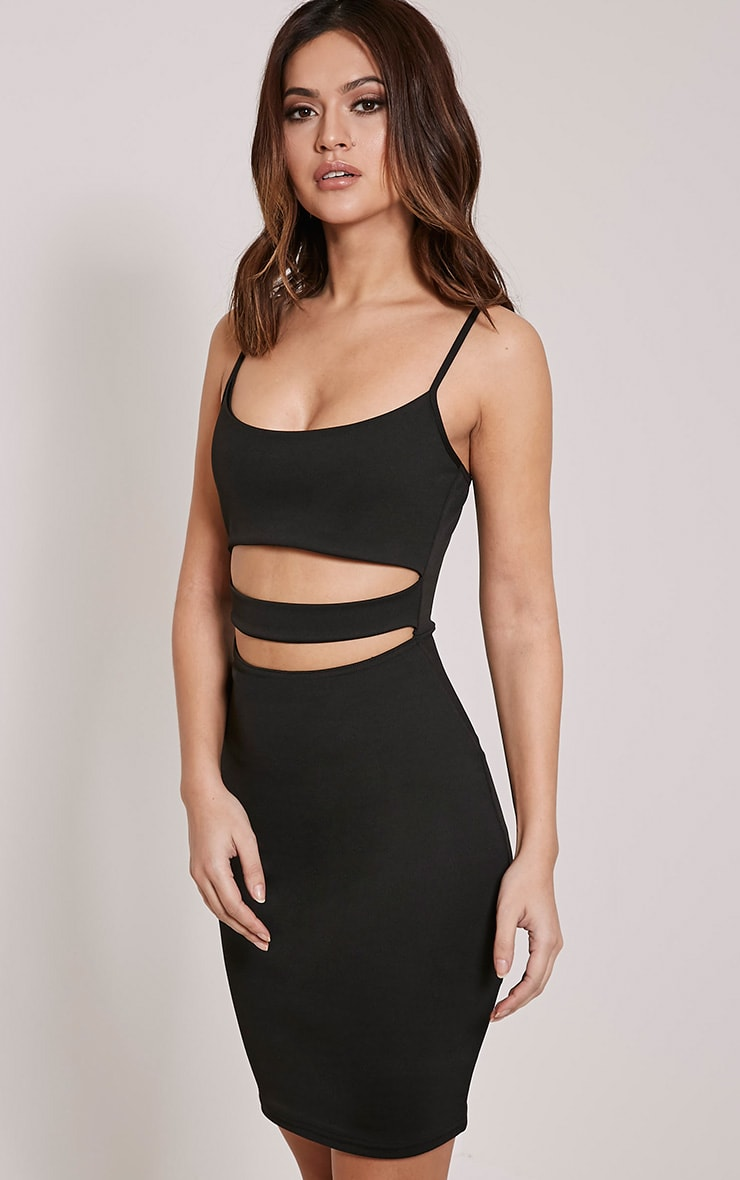 Roxanne Black Cut Out Mini Dress 3