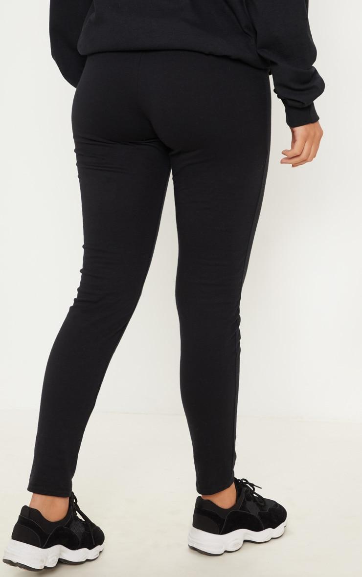 PRETTYLITTLETHING Black Embroidered Leggings 4
