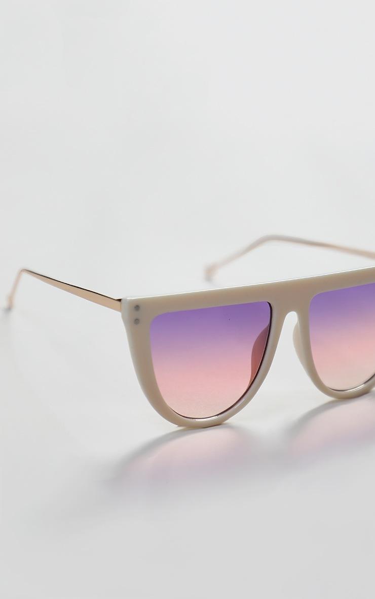 Pink Flat Bar Round Edge Sunglasses 4