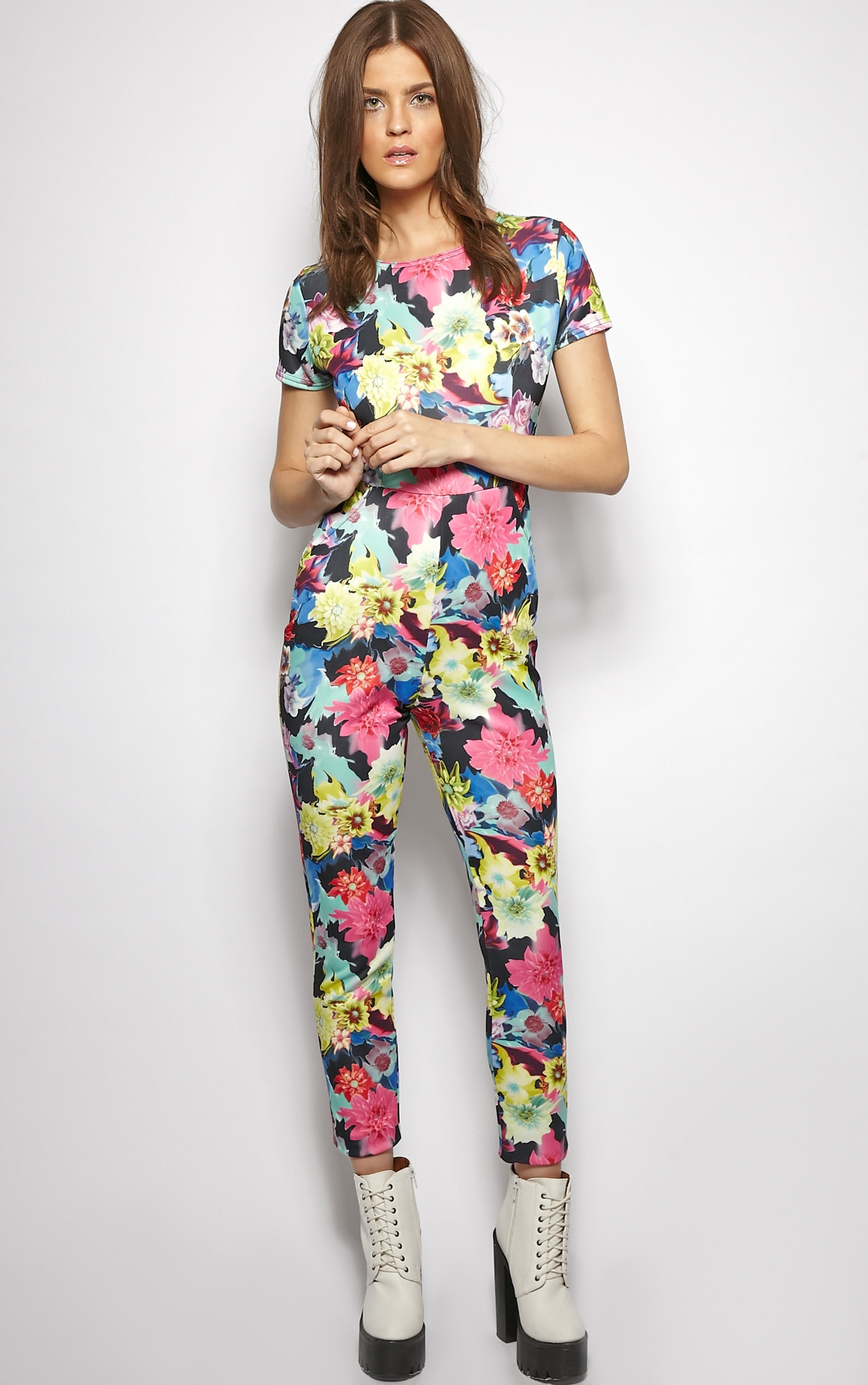 Angelica Exotic Floral Jumpsuit  4