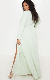 12124b615b1 Plus Sage Green Twist Front Maxi Dress image 2
