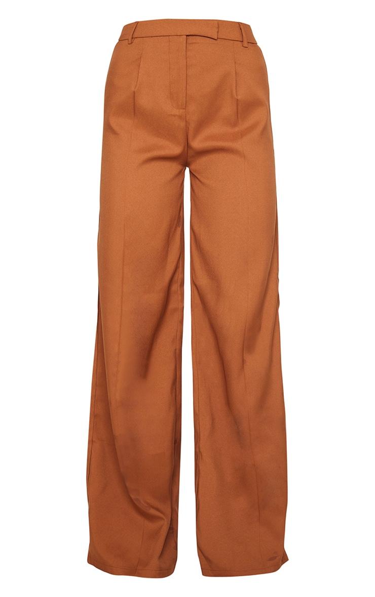Pantalon à pinces ample tissé taupe 5