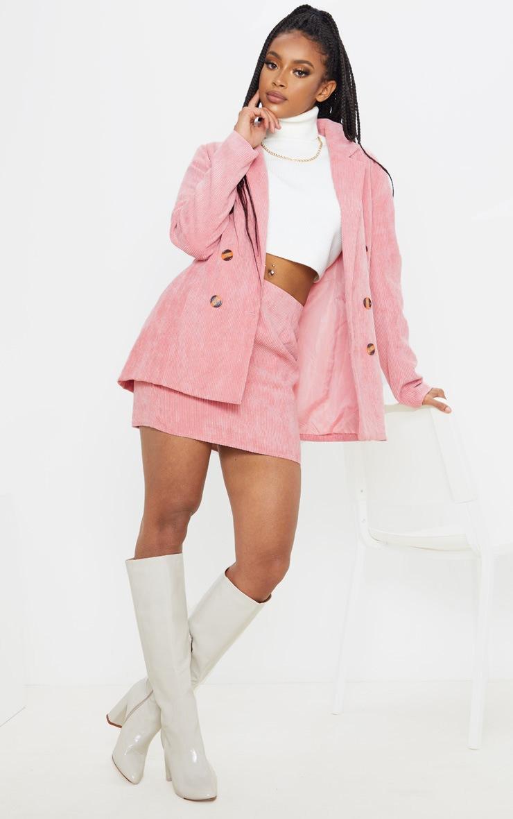 Pink Cord Oversized Boyfriend Blazer 4