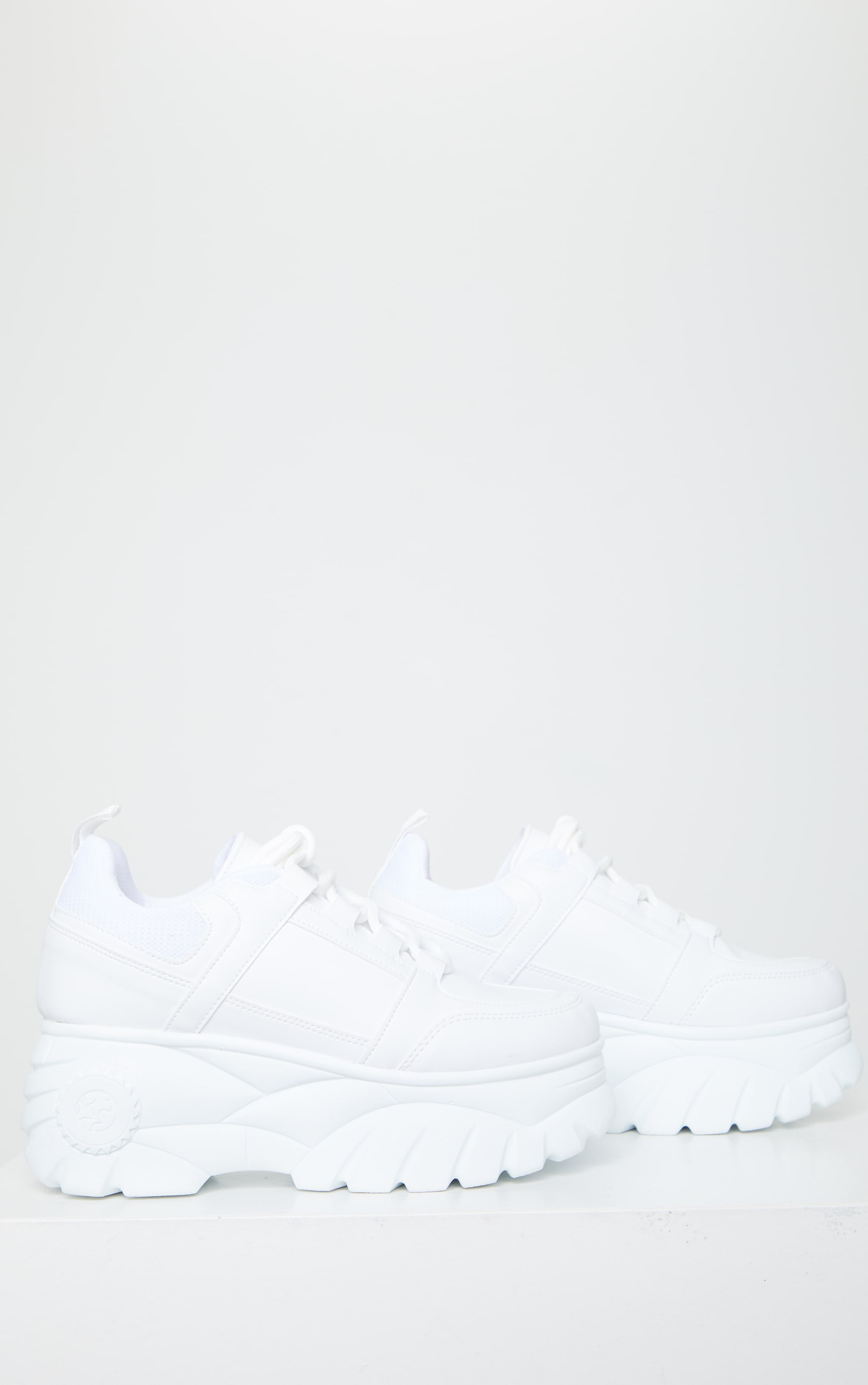 White Outer Shoe Loops Extreme Platform Sneakers 3