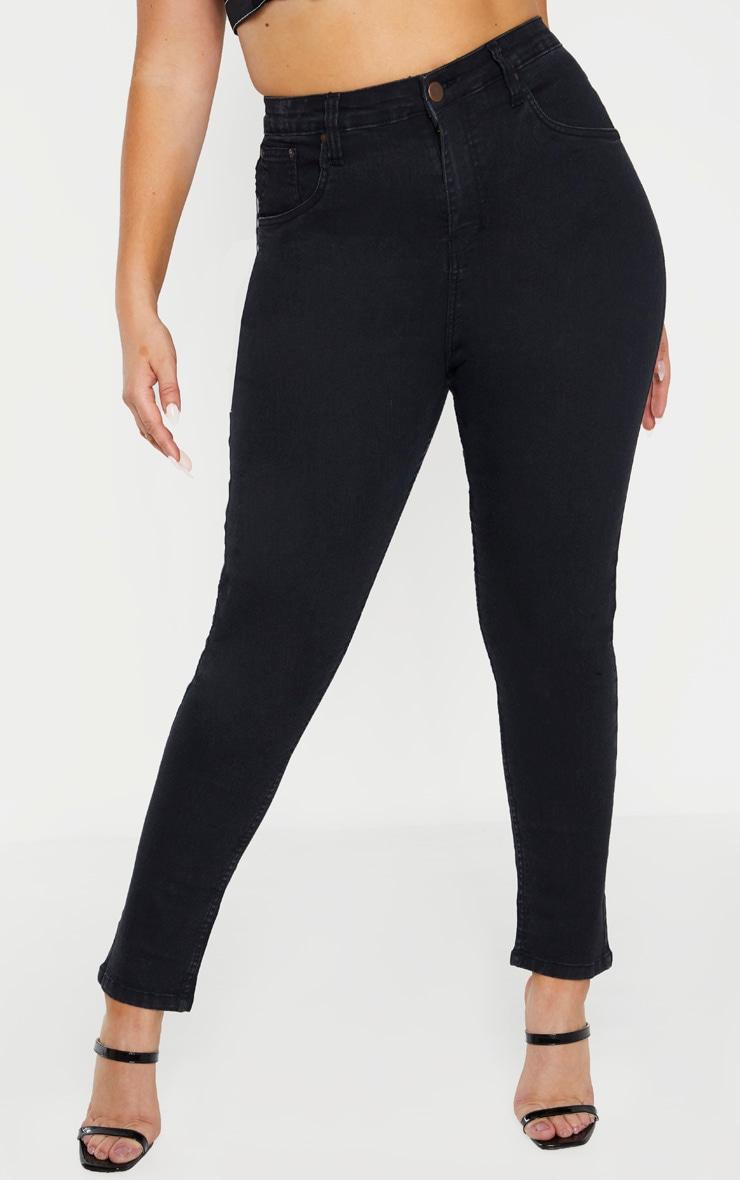 Plus Black High Waisted Skinny Jean 2