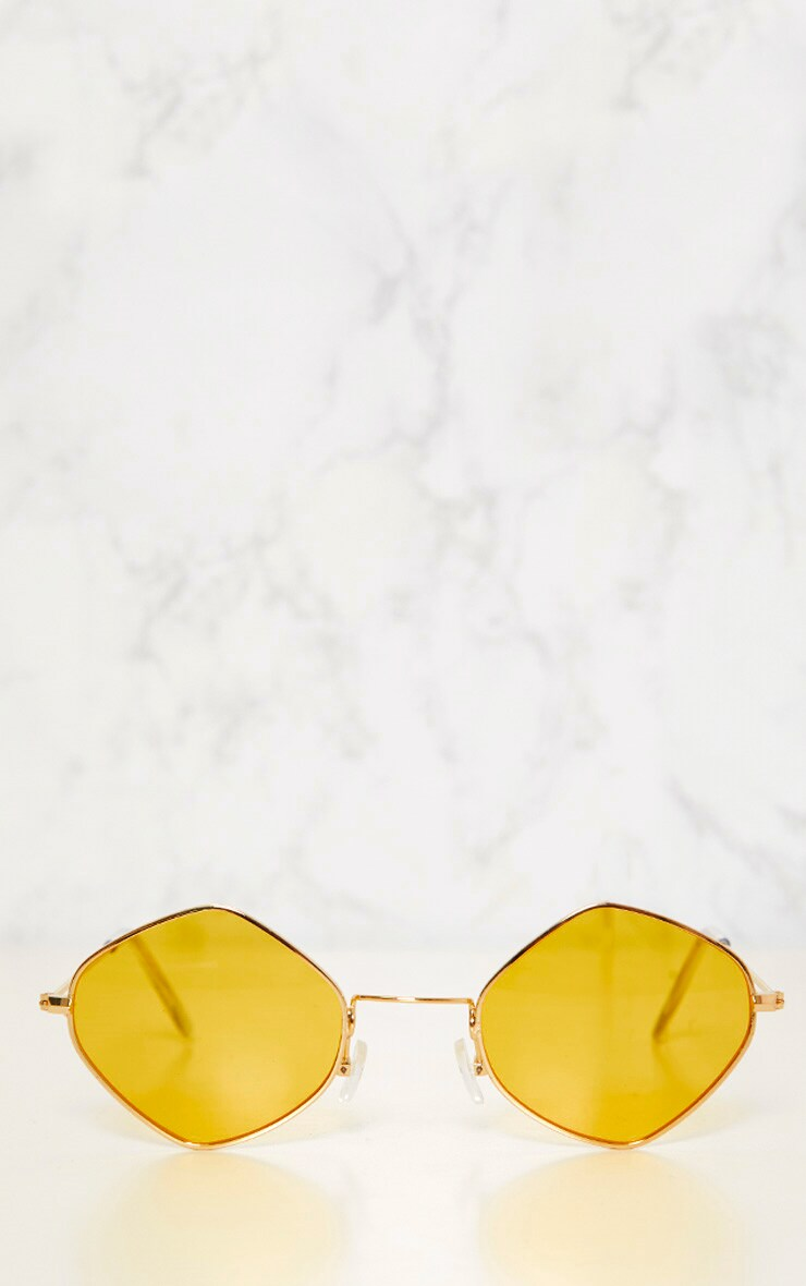 Yellow Diamond Shape Sunglasses 3