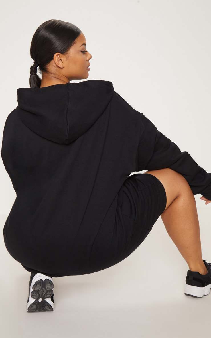 Plus Black Oversized Hoodie 2