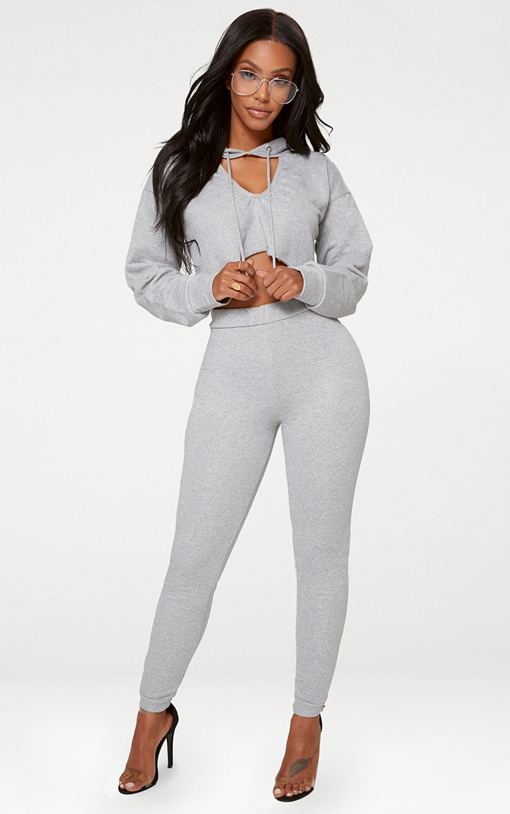 Shape Grey Elastic Bottom Joggers 1