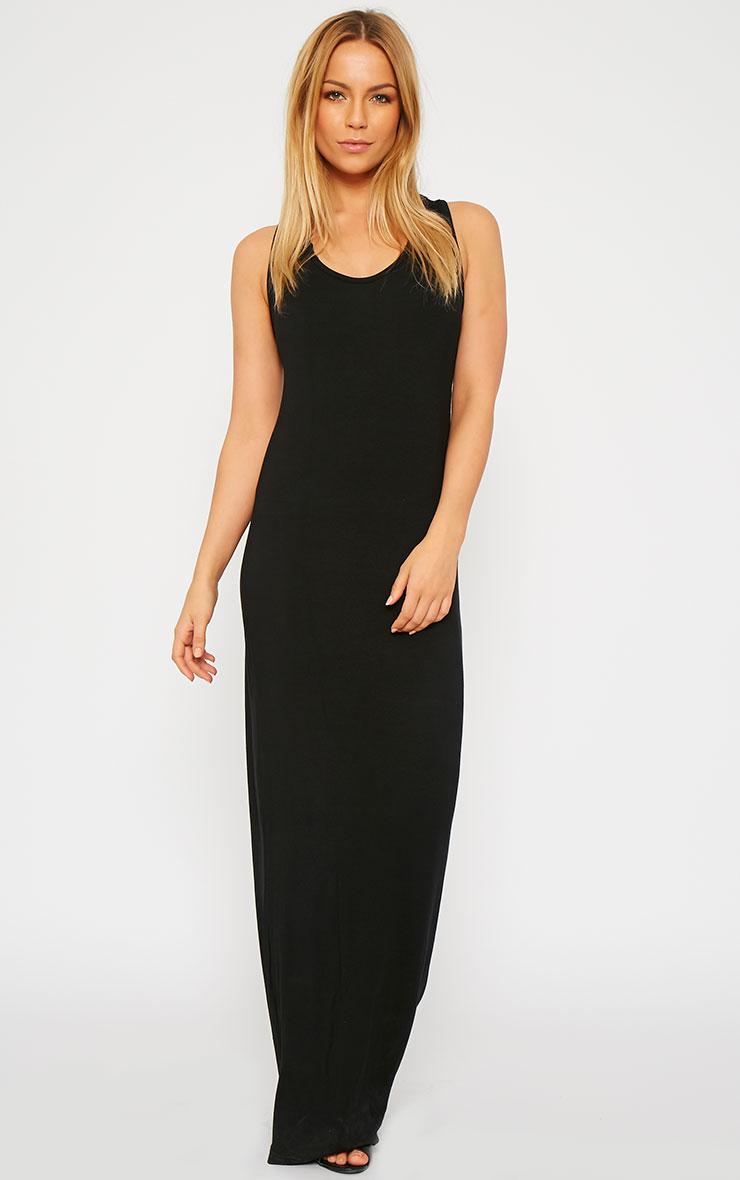 Basic Black Jersey Maxi Dress 2