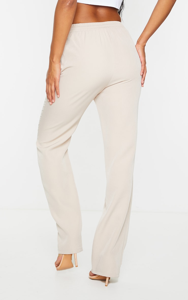 Sand Tie Front Wide Leg Pants 3