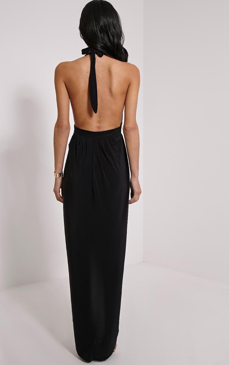 Biba Black Halterneck Slinky Maxi Dress 2