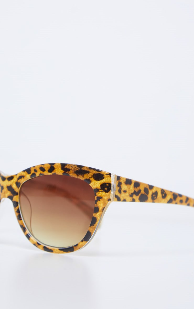 Brown Speckled Oversized Cat Eye Sunglasses 3