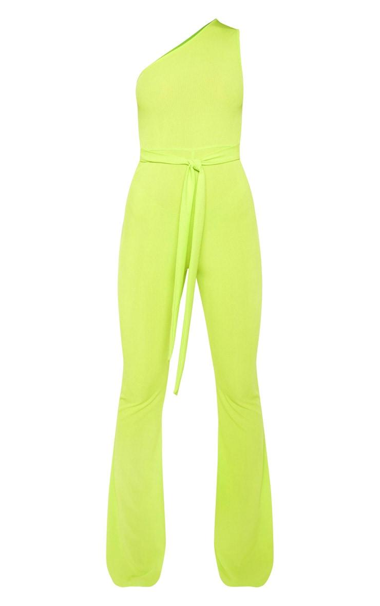 Lime Rib One Shoulder Jumpsuit 3