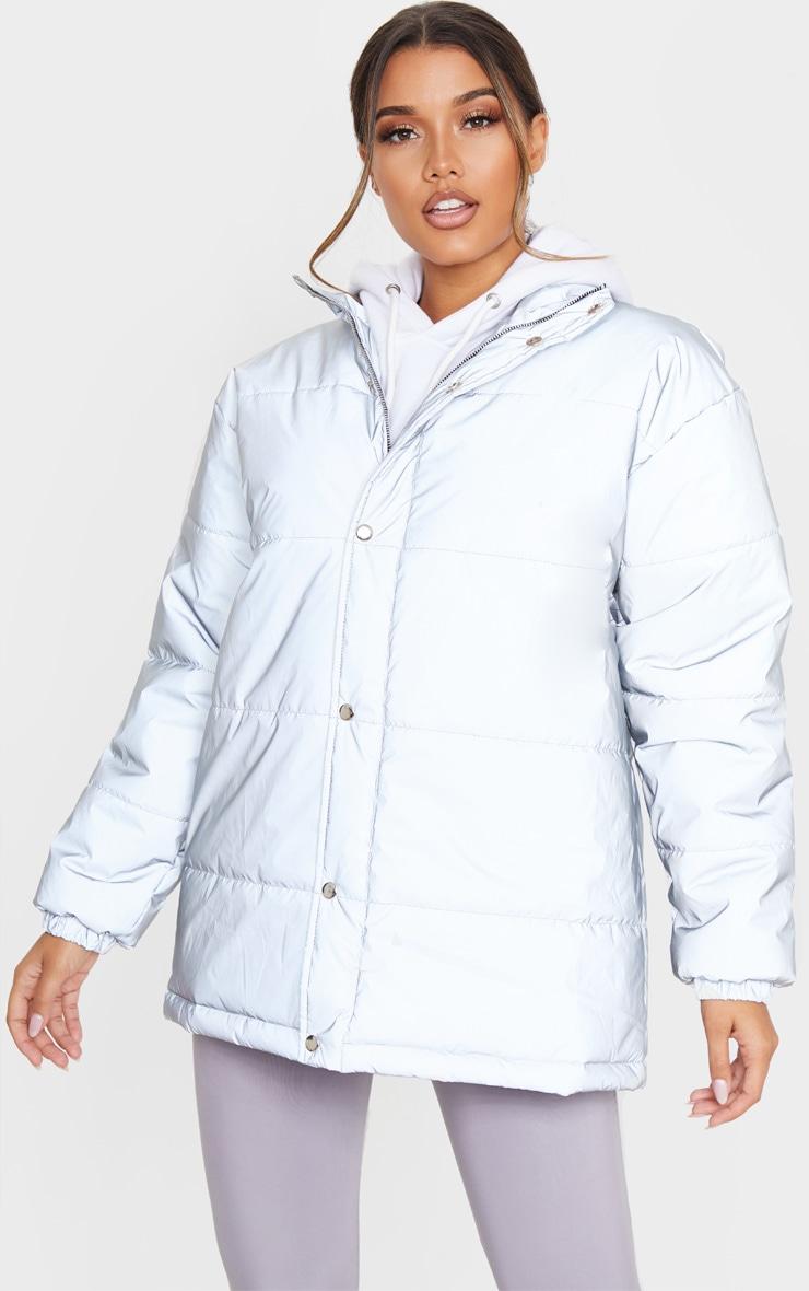 Silver Reflective Puffer Jacket 4