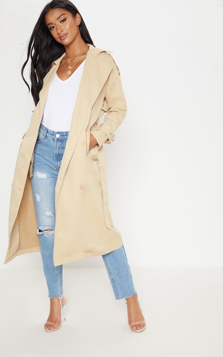 Petite - Trench coat beige 1