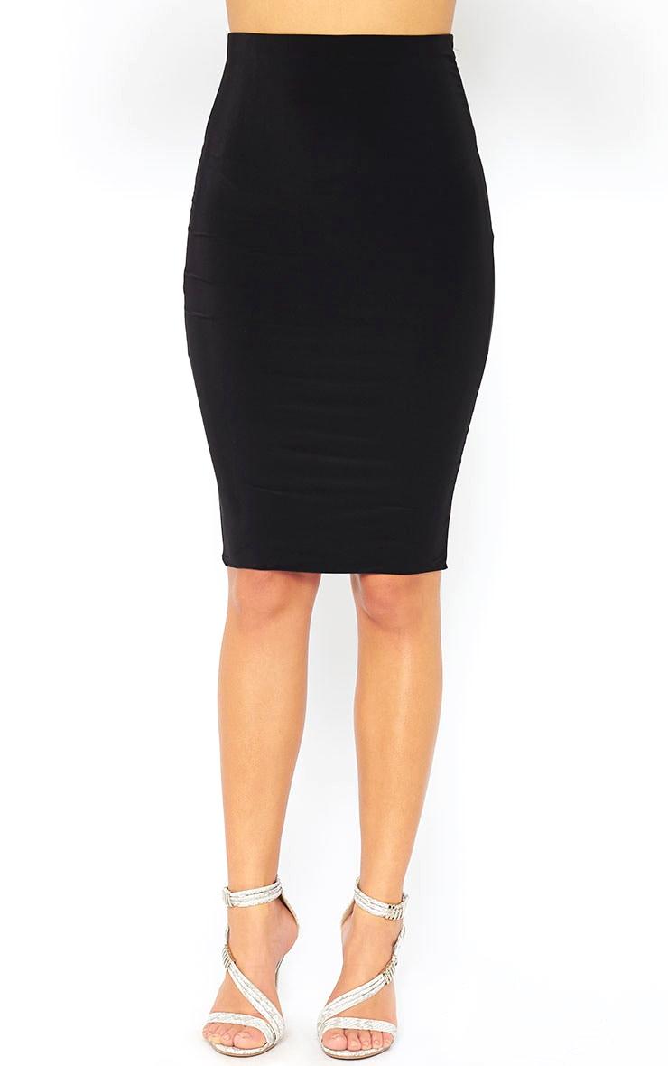Mulane Black Midi Skirt 2