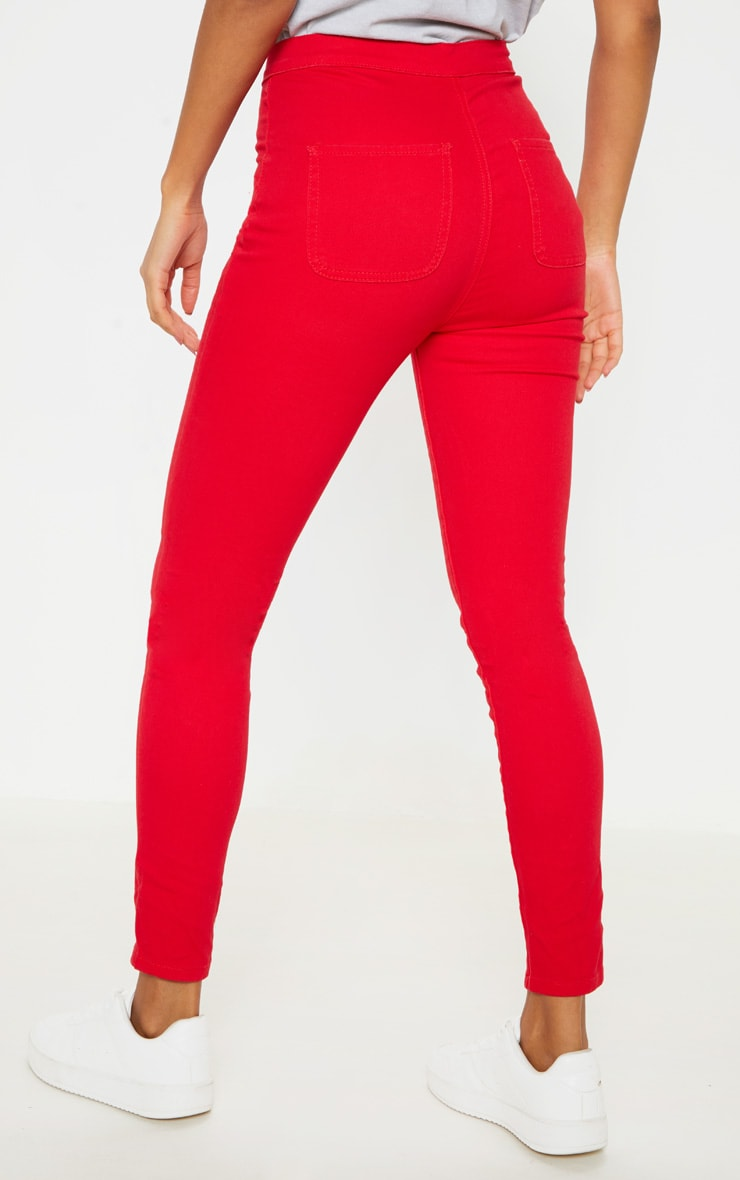 Red Disco Skinny Jeans 4